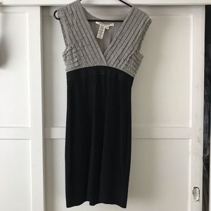 Grey and black formal dress